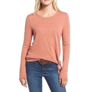 Madewell Cream Soundcheck Side Tie Tee Size XS